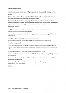 ED12B Sustainability policy Version 2