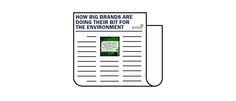 big brands are being sustainable